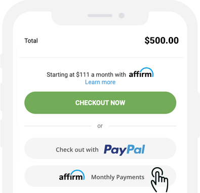 Quick application with Affirm