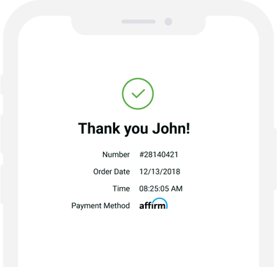 Affirm - Checkout and shipping