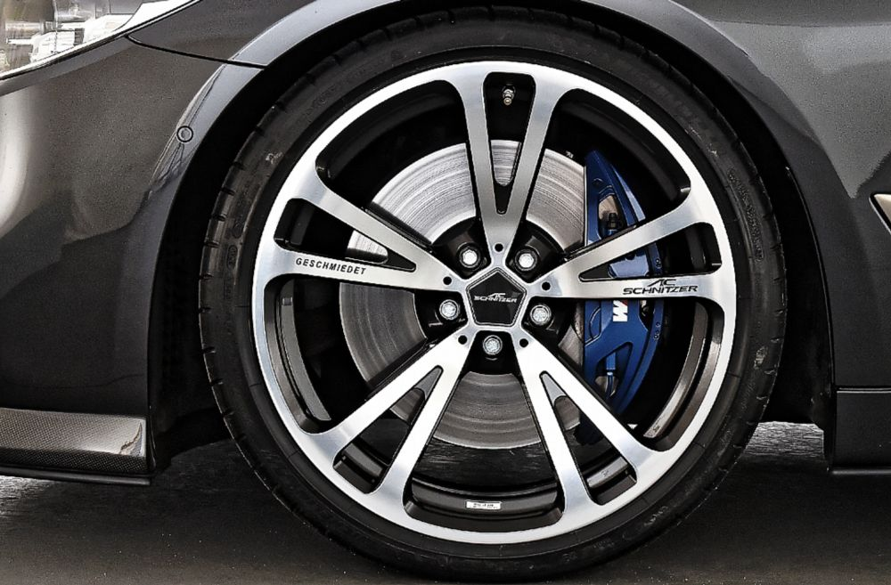 "AC Schnitzer 20"" Wheel & Tire Set AC3 Forged Silver-anthracite Michelin For BMW 8er (G14/G15/G16)"